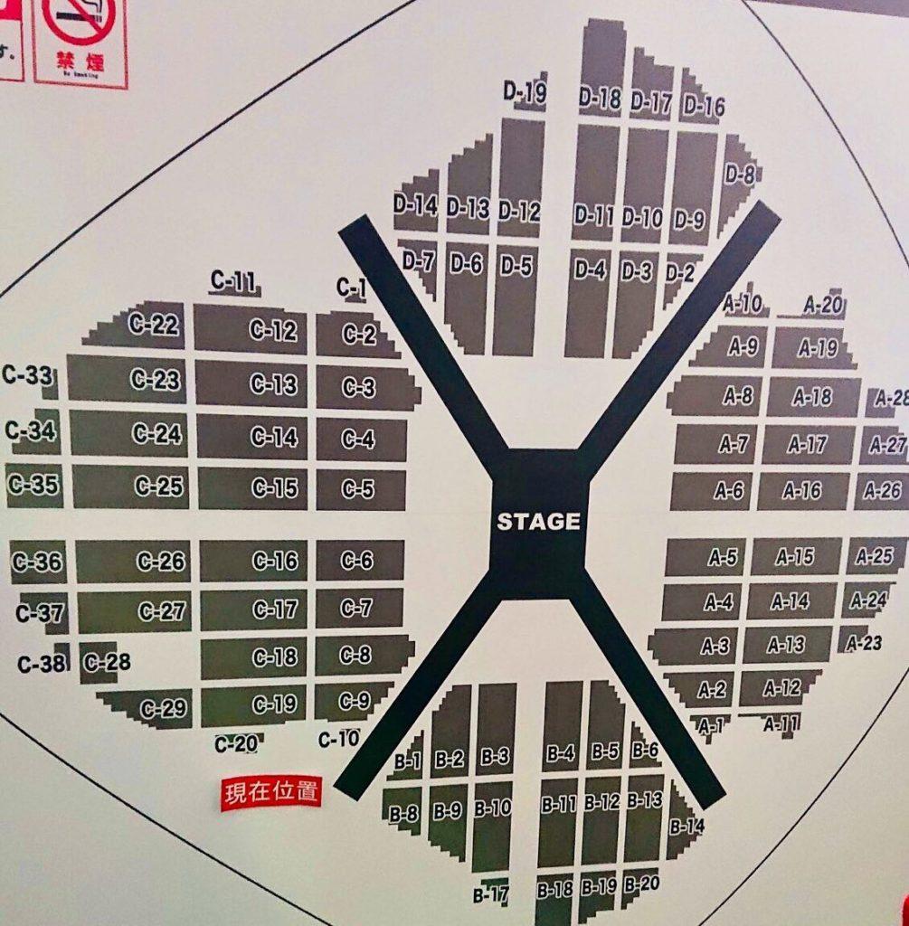 東京ドームアリーナ座席表